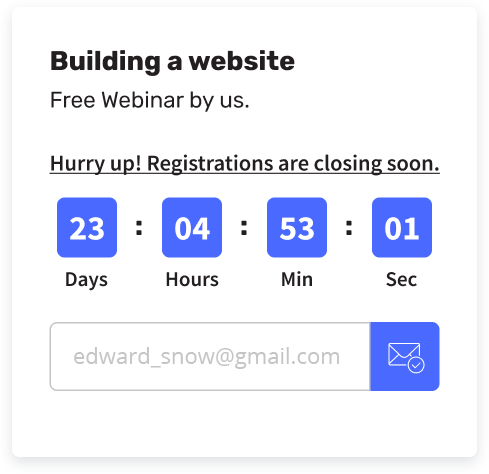 countdown collector widget for website
