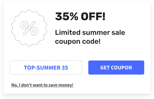coupon widget for website
