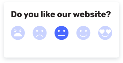 emoji feedback widget example