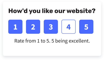 score feedback widget example